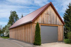 Holzverkleidung Garage